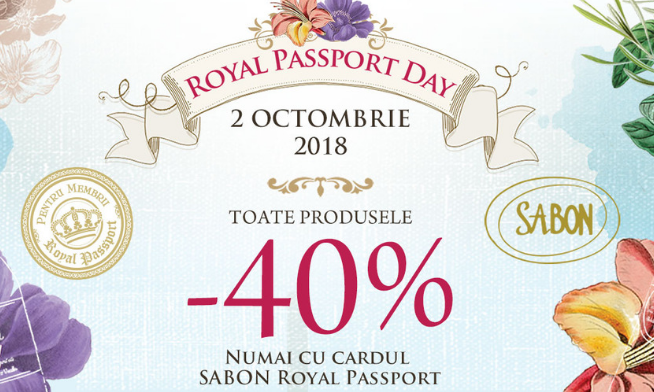 Royal Passport Day la Sabon