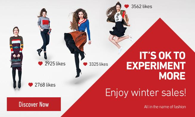 IT'S OK TO EXPERIMENT MORE. IT'S WINTER SALES!