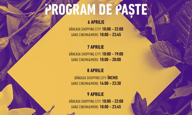 Special Easter schedule in Baneasa Shopping City