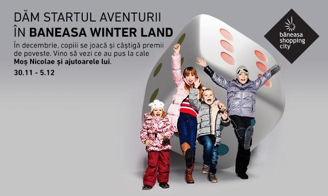 We start the adventure in Baneasa Winter Land