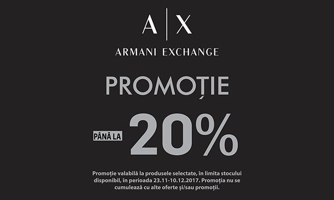 Promo Armani Exchange - Up to 20% discount