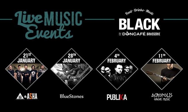 Concerte live in Black By DonCafé Brasserie