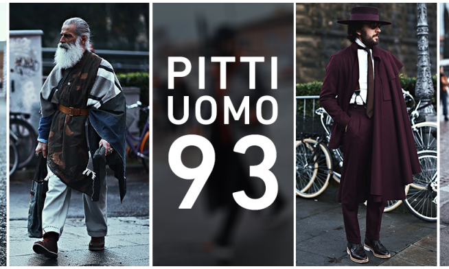 All styles lead to Pitti Uomo 93 Florence