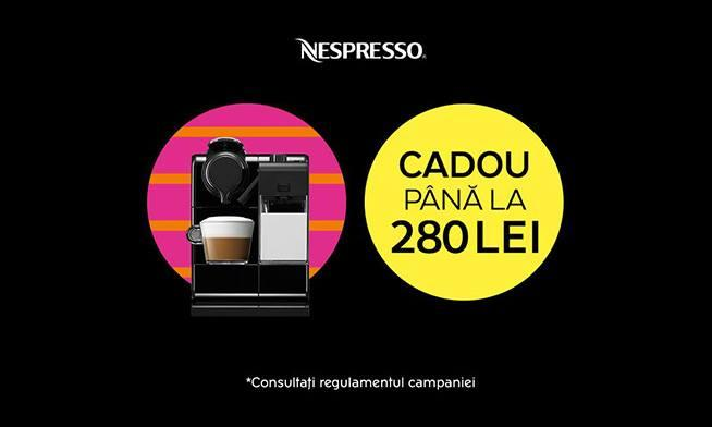 Holiday GIFT: coffee worth up to 280 lei for Nespresso espresso machines