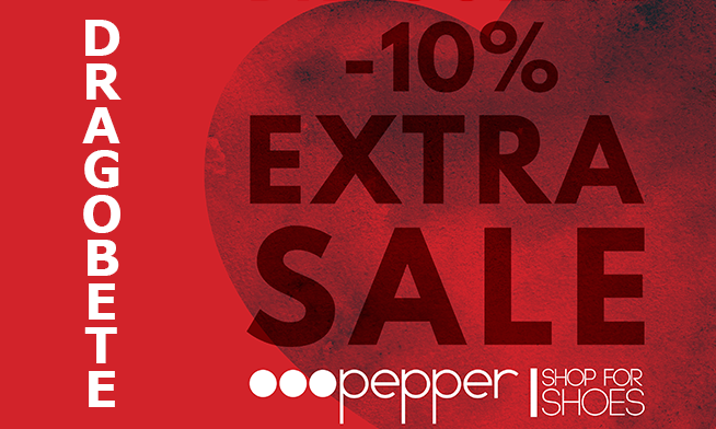 Pepper promotion for Valentine's Day and Dragobete