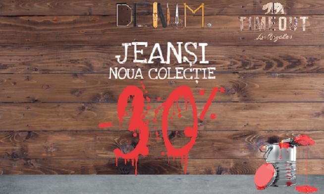 Timeout- 30% reducere la Jeans