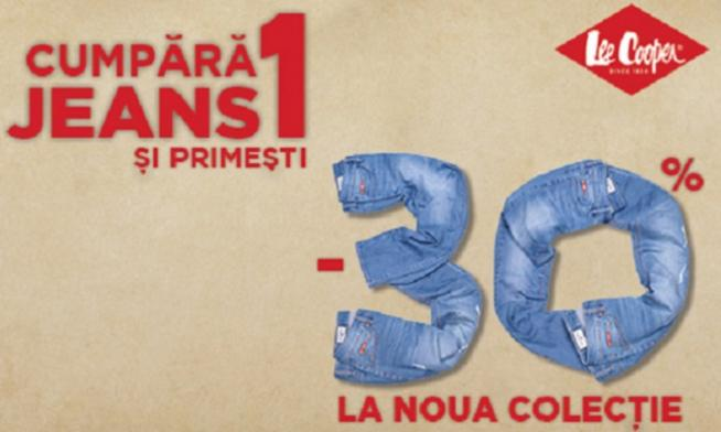 Cumperi un jeans, primesti 30% reducere la noua colectie