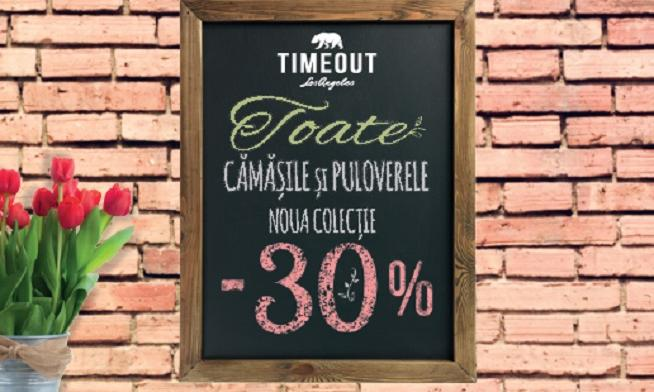 Timeout - 30% reducere