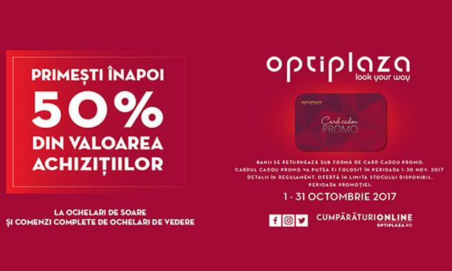 Promo Optiplaza - 50% discount