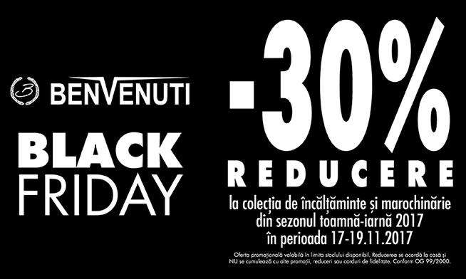 Black Friday la Benvenuti- 30% reducere