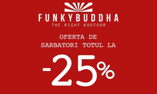 Promo Funky Buddha - 25% discount
