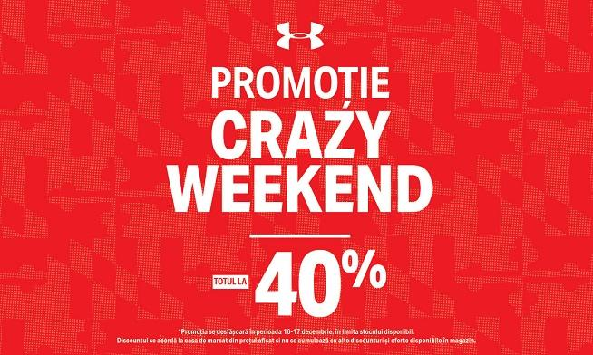 Under Armour Crazy Weekend - 40% discount