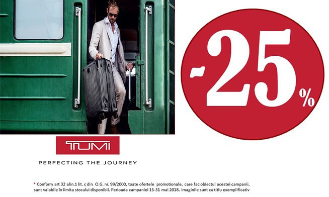 TUMI - discounts up to 25%