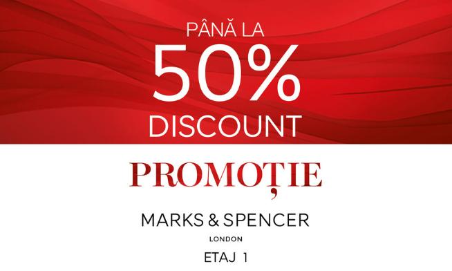 Pana la 50% discount la Marks & Spencer