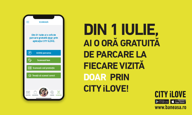 FREE HOURS of parking only with CITY iLOVE app